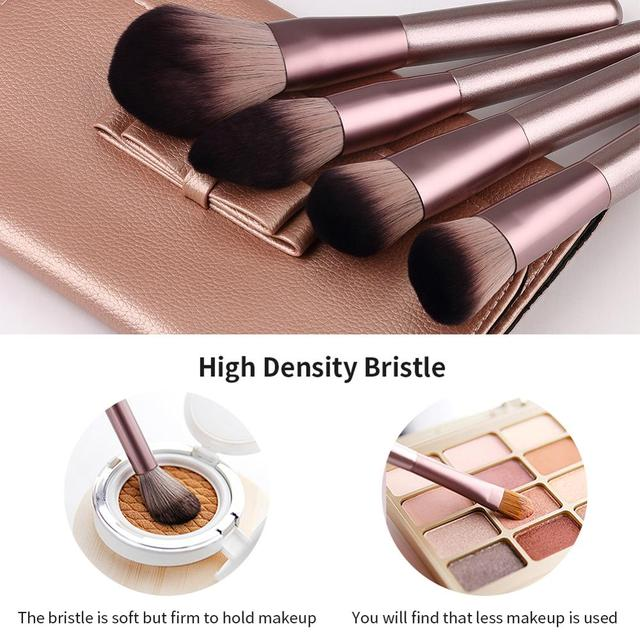 Makeup Brushes Set WeChip 12pcs Premium Makeup Brush Kit Kabuki Foundation Face Powder Blush Eyeshadow Concealers Cosmetic Brush 4