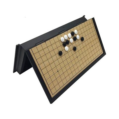 Jogo de Tabuleiro Presentes de Brinquedo Chinês Velho Weiqi Damas Mesa Dobrável Magnético ir Xadrez Jogo Plástico Yernea
