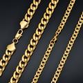 Männer 3/7/12mm Edelstahl Gold Miami Kubanischen Link Halskette Lange Männlichen Hip hop Schmuck gold Kette Großhandel Dropshipping