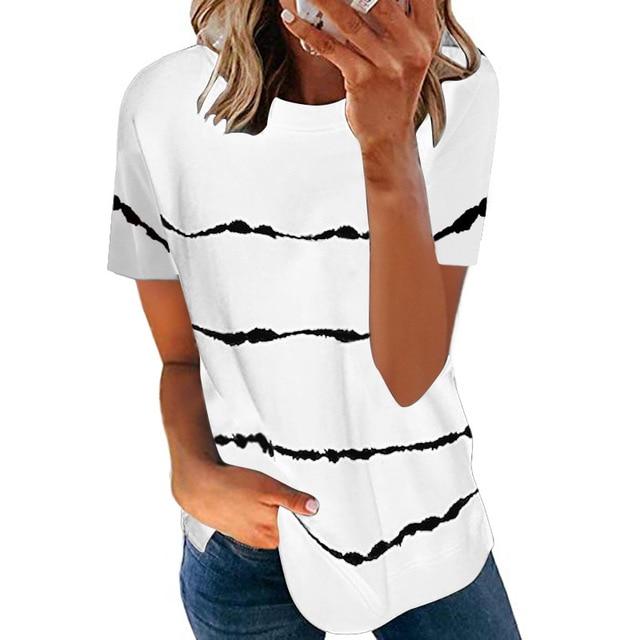 Свободная женская футболка модного покроя, коллекция лето 2021 3