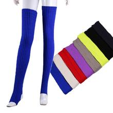 Women Elastic Stockings red black Color Warm Thigh High Knitted Long Over Knee Stockings winter Women's Long Over Knee Stockings