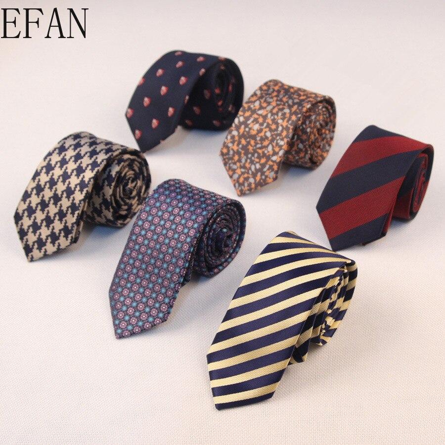 Classic 6cm Skinny Mature Men's Tie Business Slim Tie Tie For Man 2020 Fashion High Quality Silk Polyester Bridegroom Tie