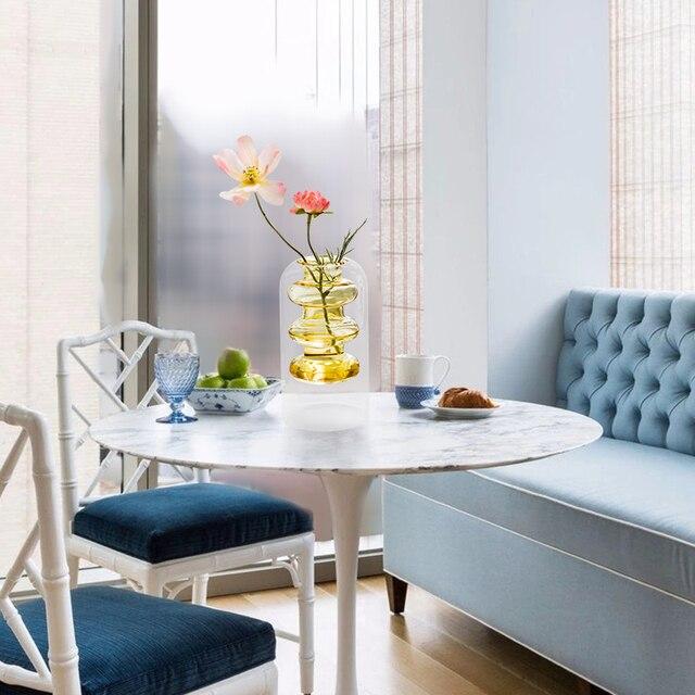 Home decoration accessories Nordic style Colourful Glass Transparent Vase Flower Arrangement Hydroponic Aquaculture Bottle Table 6