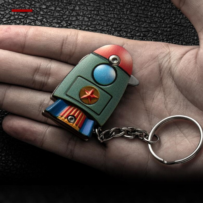EDC Keychain Multi-function Folding Tool Stainless Steel Portable Tool Mini Small Outdoor Survival Pendant Personal Safety Tool