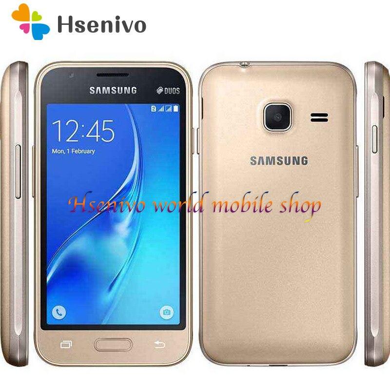 "Samsung Galaxy J1 Mini (2016) SM-J105H cell phone 8GB ROM Dual sim card Wifi GPS Quad Core 4.0"" touch screen mobile phone"