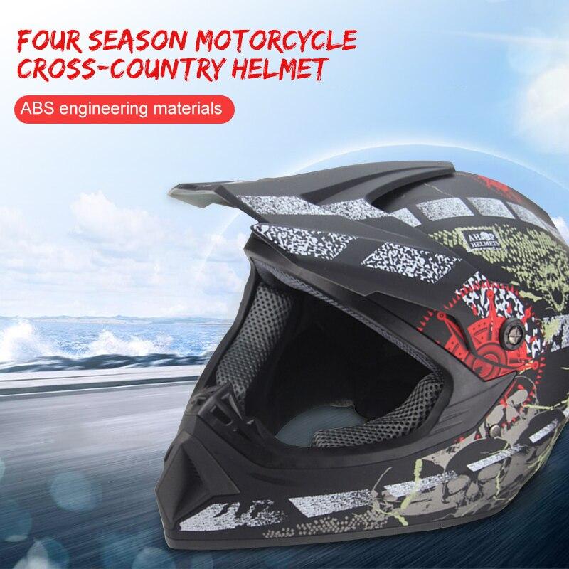 Black Helmet ATV Dirt Helmet ATV Dirt Bike Scooter Pratical Motocross Helmet ATV For Helicopter