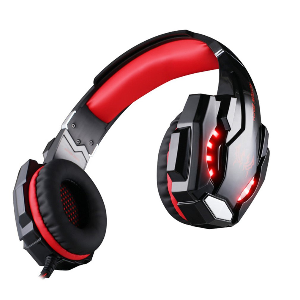 KOTION EACH Gaming Headset Headphone with Mic LED Light for Xbox One S/Xbox one/PS4/Tablet/Laptop/Cell Phone 3.5mm Stereo Jack