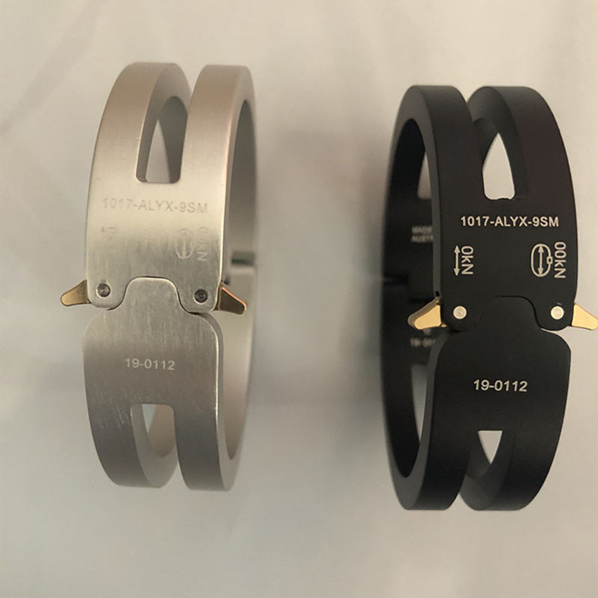 2020 ALYX Bracelet Men Women Fashion Casual ALYX Track Aluminium Alloy Bracelet Unisex Couples ALYX Bracelet