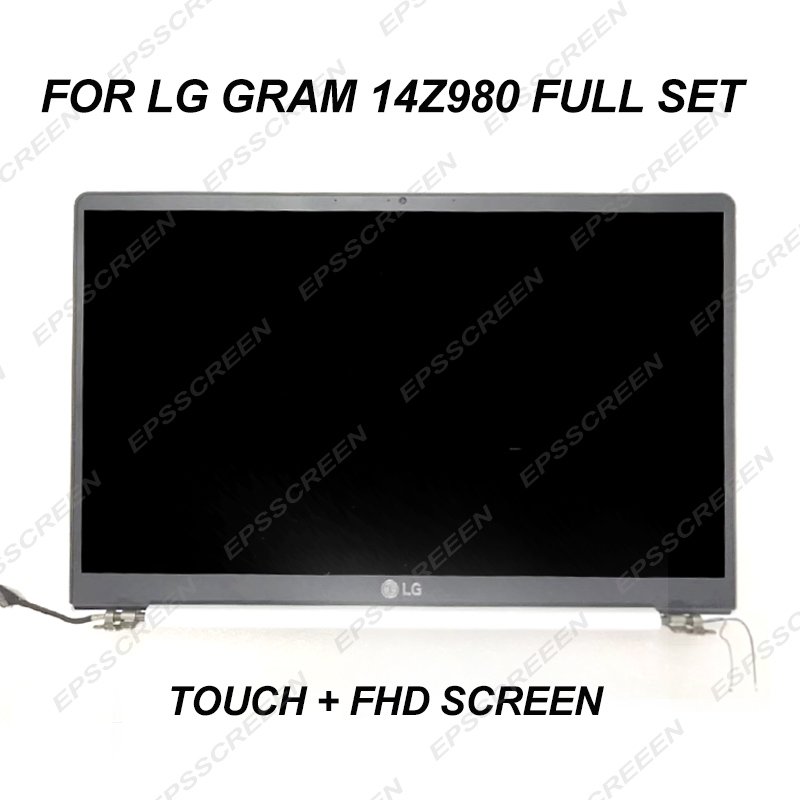 14.0 NEW FULL ASSEMBLY SCREEN FOR LG GRAM 14Z980 white FHD IPS WIDEVIEW TOUCH DIGITIZER PANEL TOP SET LED LCD NOTEBOOK DISPLAY