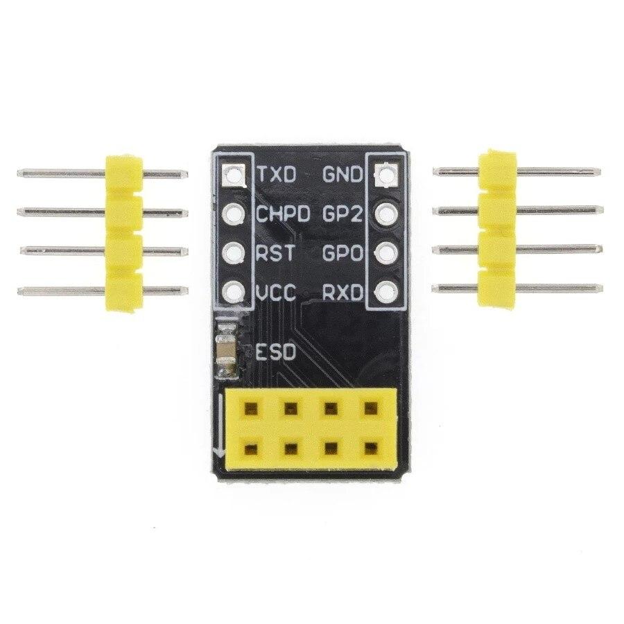 10 шт. для ESP-01 Esp8266 ESP-01S ESP8266 серийный макетный адаптер для WiFi трансивера модуль Breakout UART модуль A31