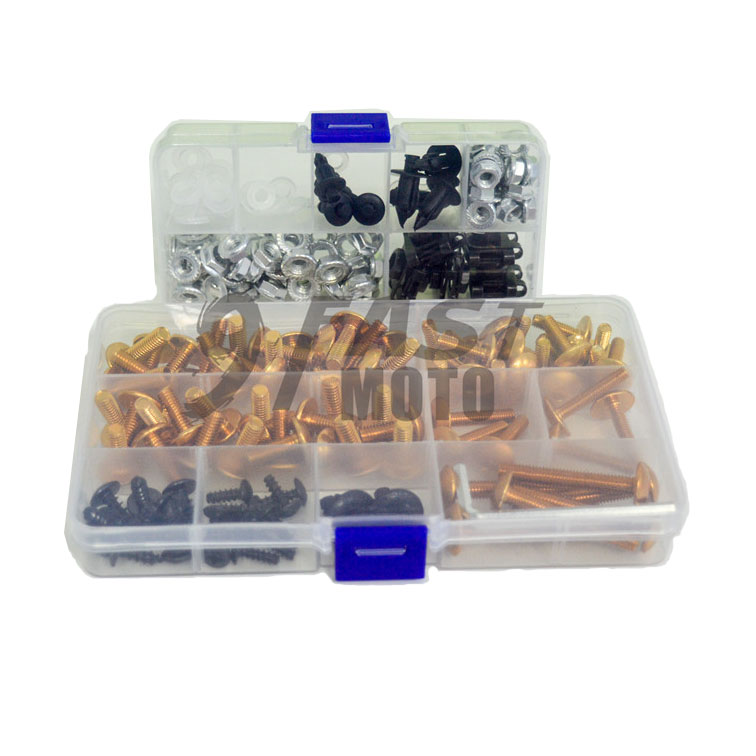 1998 1999 2000 2001 TL1000R Complete Fairings Bolts Screws Fasteners Kit Set Made in USA Silver