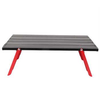 Składany stół Mini stół piknikowy ze stopu aluminium lekki składany stół na zewnątrz BBQ Backpacking stół kempingowy Camping biurko tanie i dobre opinie CN (pochodzenie) Other Rectangle Table Stół ogrodowy meble zewnętrzne Folding Table Nowoczesne