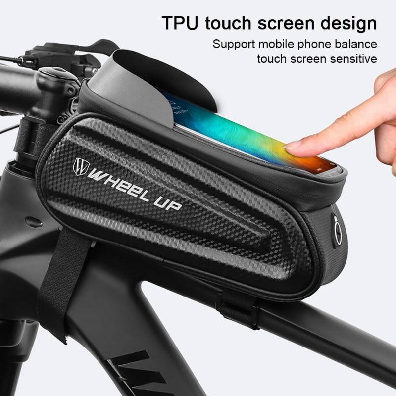 2020  Waterproof Bicycle Frame Top Tube Bag Touchscreen Bike Phone Bag