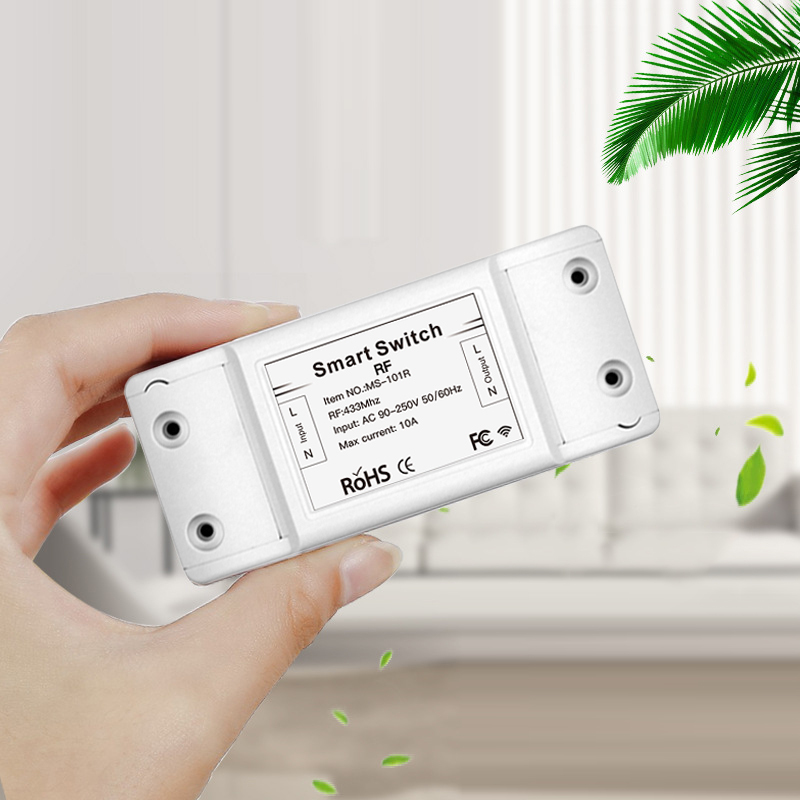 RF433 90/250V Wireless Receiver Switch Smart Remote Control Switch Smart Home Life Works With Wall Panel Transmitter