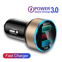Quick Charge 4.0 3.0 Fast Car Charger for Mobile Phone Unive