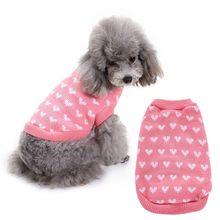 Милая одежда для домашних животных Розовый персиковый свитер