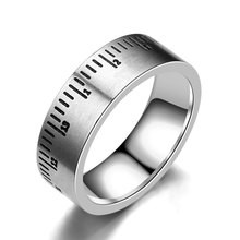 Fashion Simple Roman Number Ring For Women Men 316l Stainless Steel Punk Party Finger Male Jewelry Wholesale