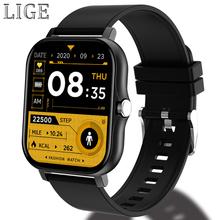 2021 LIGE nowa moda Wo inteligentny zegarek dla mężczyzn mężczyźni śledzenie aktywności pulsometr sport inteligentny zegarek dla mężczyzn damskie dla Android iOS tanie tanio CN (pochodzenie) Na nadgarstek Zgodna ze wszystkimi 128 MB Krokomierz Rejestrator aktywności fizycznej Rejestrator snu