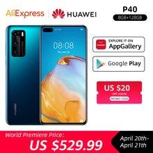 Google Play Global Version Huawei P40 5G Smartphone Kirin 990 8GB 128GB 50MP Ultra Camera 6.1 inch SuperCharge NFC