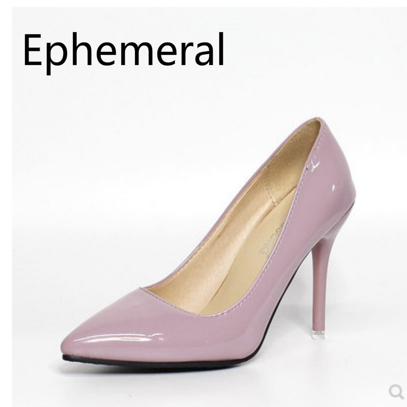 Sexy Patent Leather Extreme High Heel Shoes For Women Big Size 44 45 46 48 Plain Simple Pumps Red Stilettos For Party Nigh Club