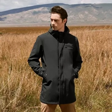 Youpin-trench coat long homme   Automne, hiver femme, slim, veste sauvage, pardessus Business capuche, trench coat chaud et doux Streetwear