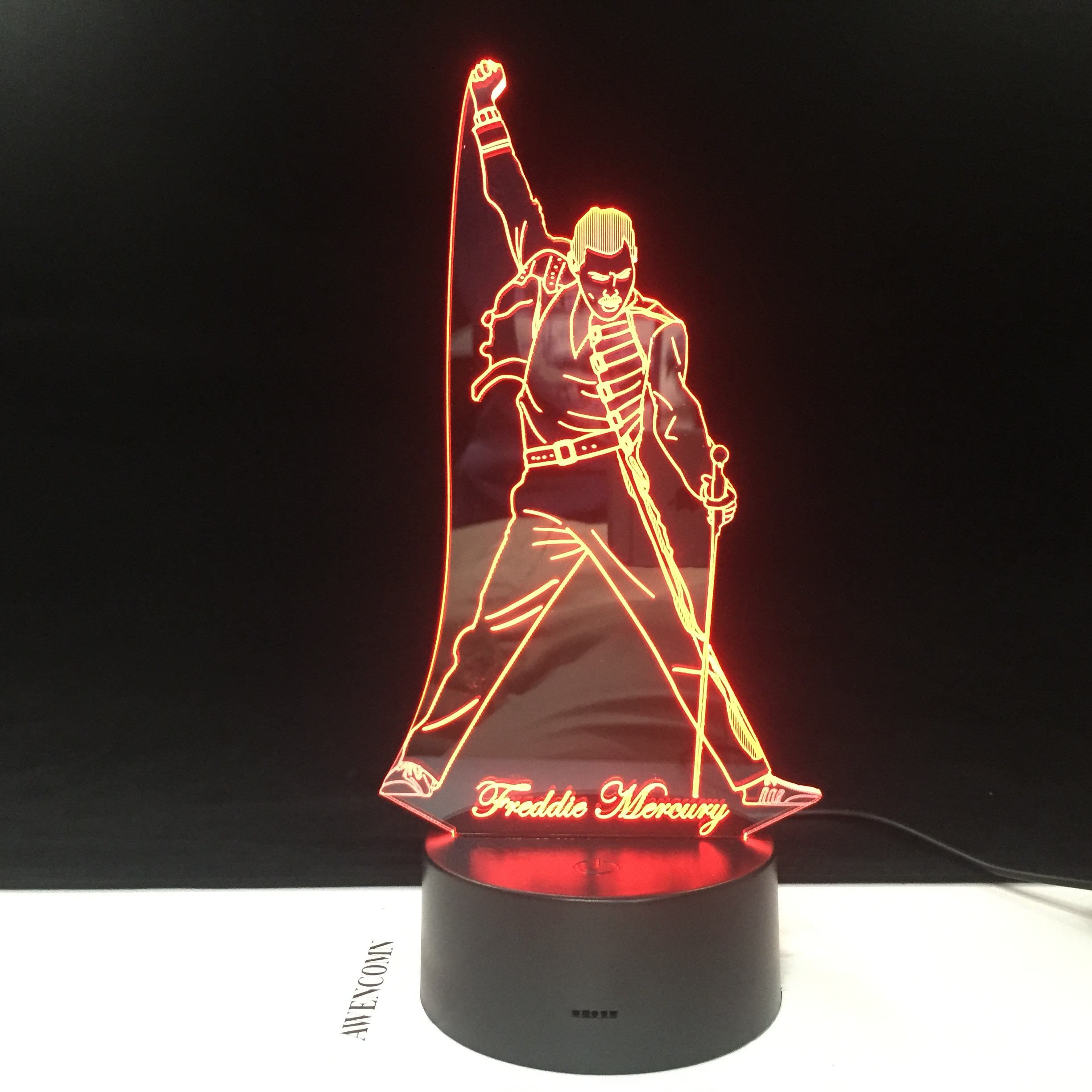 Freddie Mercury Queen 3d Led Lamp Night Light Touch Sensor Baby Kids Nightlight For Office Room Decorative Lamp Dropshipping