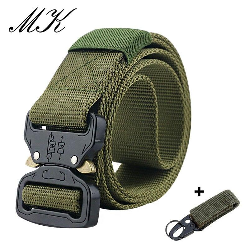 Maikun пояс мужской ремень военное оборудование боевые тактические ремни для мужчин армейский обучений нейлоновый пояс с металлической пряжкой открытый охотничий ремень - Цвет: Army Green1