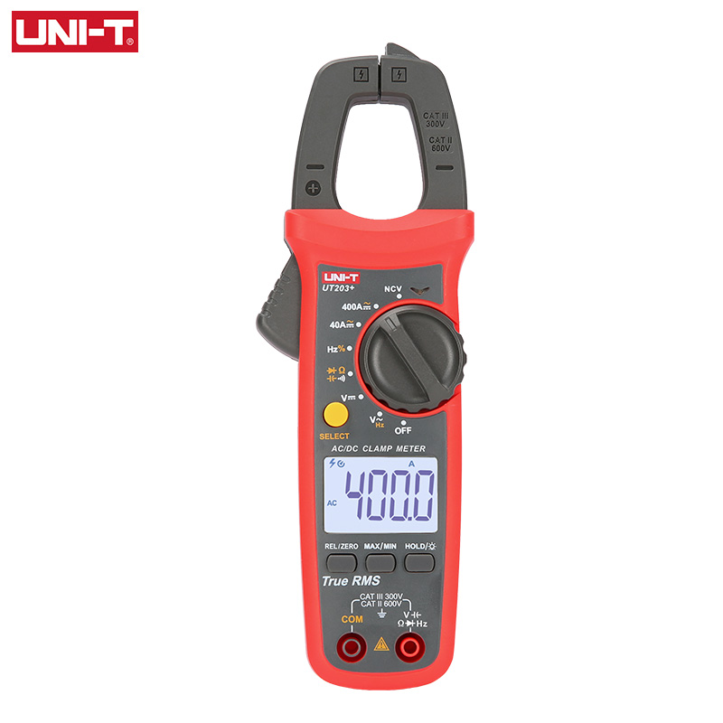 UNI-T UT201+/UT202+/UT203+/UT204+/UT202+ 400-600A Digital Clamp Meter; Automatic Range True RMS High Precision Multimeter