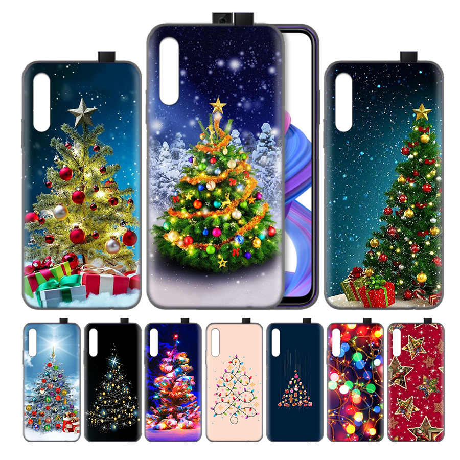 ซิลิโคนสำหรับ Huawei Honor 8X 8C 8A 8S 9X10 20 20i V20 Play Y5 Y7 y9 Lite Pro Prime 2019 Nova 4e Merry Christmas tree