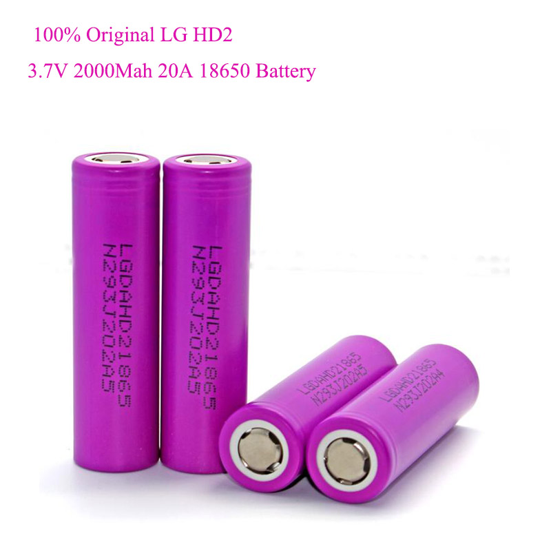 Литий ионный аккумулятор для LG HD2 Powertool Ecig, 3,7 в, 25 А, 2000 мАч, 18650|Перезаряжаемые батареи| | АлиЭкспресс