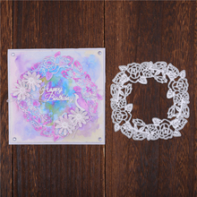 Naifumodo Flower Blossom Wreath Metal Cutting Dies Stencils for DIY Scrapbooking Decoration Embossing Handcraft Die Cut 2019