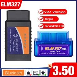 OBD 2 Super Mini ELM327 Elm-327 Bluetooth OBD2 V2.1 code reader Auto Scanner elm 327 Tester Adapter Diagnostic Tool for Android