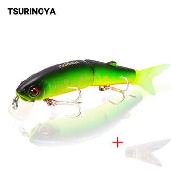 TSURINOYA Multi Segment Fishing Lure Floating Minnow DW42 113mm 13g Depth 1.8m Hard Fishing Lure Two Sections Jointed Fish Lure