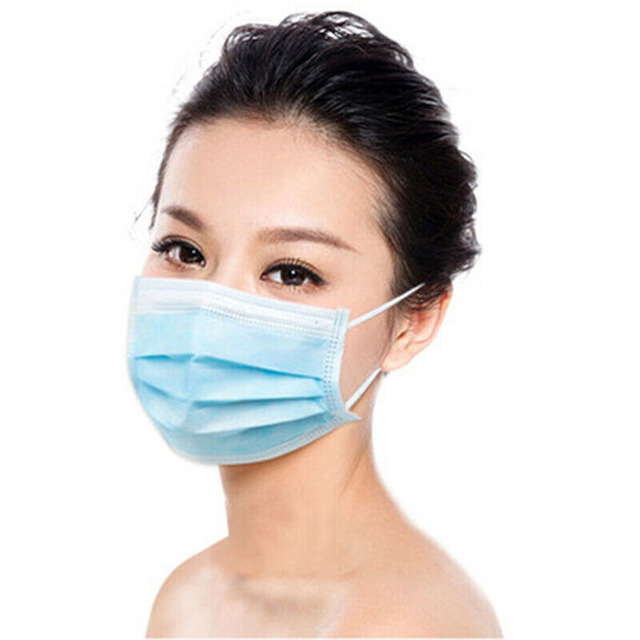 50/100pcs Face Mouth Masks Respirator 3-layer Antiviral Protection Flu Facial Mask Influenza Earloop Non Woven Mouth Dust Mask 1