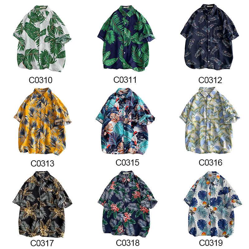 CHAIFENKO 2020 Neue Heiße Sommer Urlaub Fashion Floral Kurzarm Shirts Männer Strand Hawaiian Freizeit Lose Männer Shirts Plus Größe