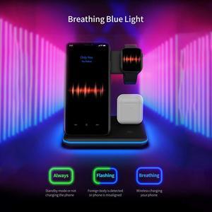 Image 5 - 15 w qi 무선 충전기 스탠드 홀더 스테이션 apple watch 5 4 3 2 용 고속 충전 도크 airpods pro iphone 11 pro max xs max xr