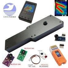 Mlx90640 sensor térmico infravermelho da temperatura da medida 32*24 p da câmera de imagem térmica do ir da definição 24x32