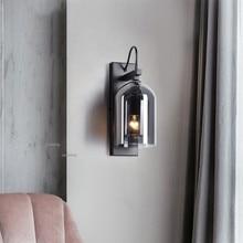 Скандинавский светильник, роскошный стеклянный светодиодный настенный светильник, современный Блестящий настенный светильник, рядом с спальней, бра, светильник, настенный светильник, Домашний Светильник, светильники