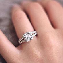 Женское кольцо из серебра 2019 пробы с фианитом