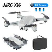 JJRC X16 5G WIFI FPV Dual GPS 6K HD Della Macchina Fotografica Flusso Ottico Posizionamento Brushless Pieghevole RC FPV Da Corsa drone Quadcopter RTF w/ Bag