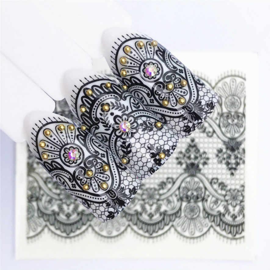 1 pièces mode dentelle filet autocollant bricolage Nail Art faux ongles conseils Nature clair ventilateur doigt Nail Art affichage pratique acrylique UV Gel