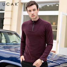 UCAK Brand Thin Sweaters Men O-Neck Solid Decorating Casual 2020 NEW Fashion Style Streetwear Spring Autumn Men Sweater U1058