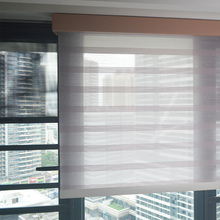 SJ19-DP Motorized Quality Window Roller Blinds Dustproof Cover Soft Fabric Manual Chain Shades Bedroom Customized Size