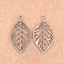 28pcs Charms hollow leaf 49x26mm Antique pendant,Vintage Tibetan Bronze,DIY bracelet necklace