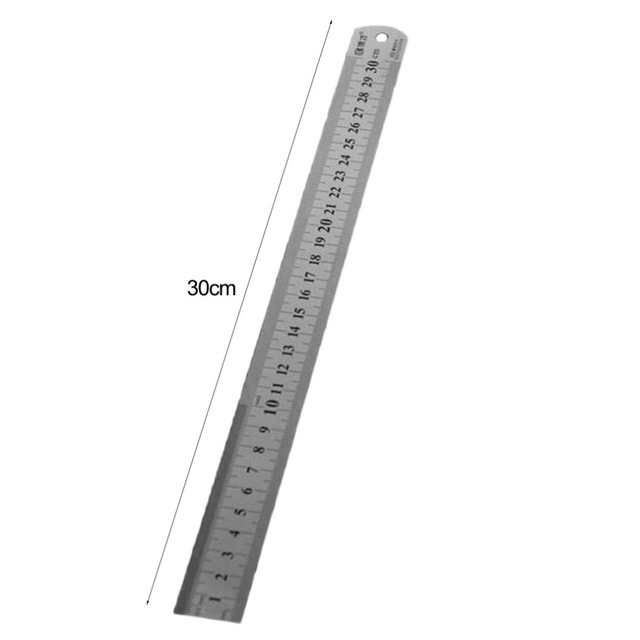 Stainless Steel Metal Ruler 30CM Straight Ruler Measurement Double Sided for Sewing Foot Sewing & School Stationery 5