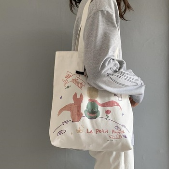 New Fashion Canvas Bag Reusable Shopping Large Folding Tote Eco Foldable Cotton Bags Handbag  Cartoon - discount item  30% OFF Special Purpose Bags