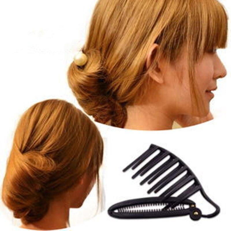 1pc Fashion Women Lady Hair Styling Clip Stick Bun Maker Braid Tool Hair Styling Accessories New