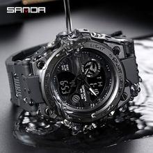 Dropshipping Watch Men Watches Male Wrist Watch For Men Clock Sport Waterproof Wristwatch Dual Display Hours SANDA Brand #739
