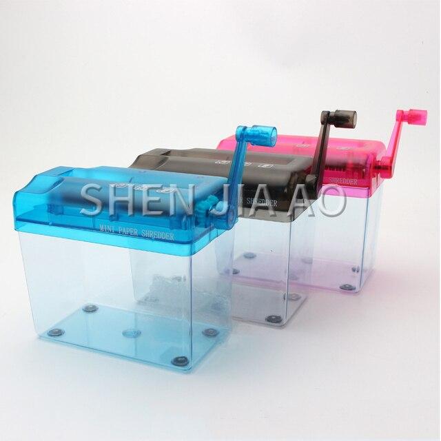 Mini Kleine Schredder Desktop Hand A6 Schredder Büro Haushalt Manuelle Schredder Finanz Papier Schredder Multifunktionale Schredder