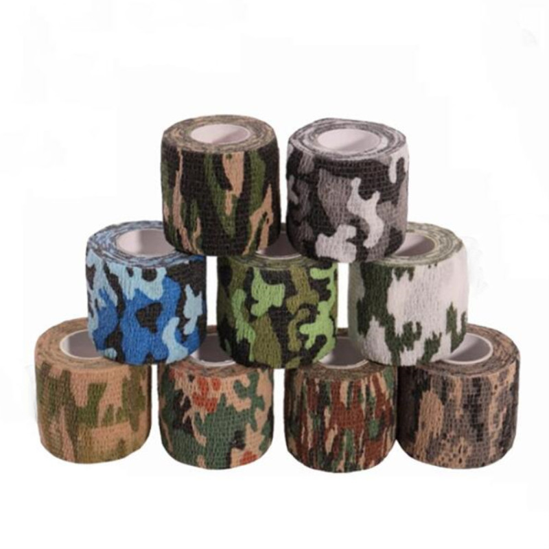 4.5m Camouflage Elastic Wrap Tape Travel Camping Self Adhesive Medical Bandage Sports Protector Knee Finger Ankle Athletic